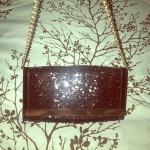 Black & Gold sequence chain bag